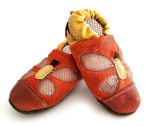 סנדלי פרפר אדום-צהוב
