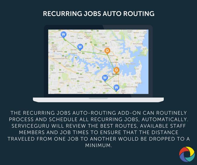 RECURRING JOBS AUTO ROUTING