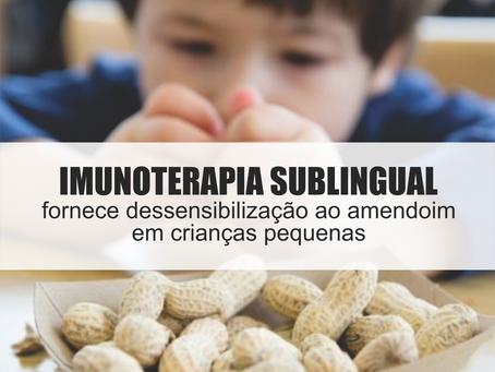 A imunoterapia sublingual com amendoim fornece dessensibilização ao amendoim em crianças pequenas
