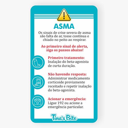 Cartão Asma - Em PVC