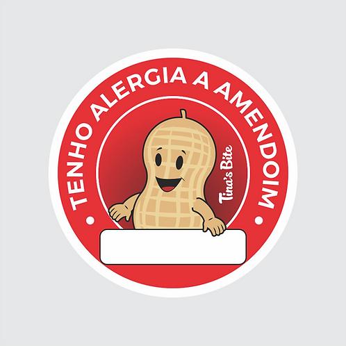 Adesivo Alergia a Amendoim - 1 cartela com 20un