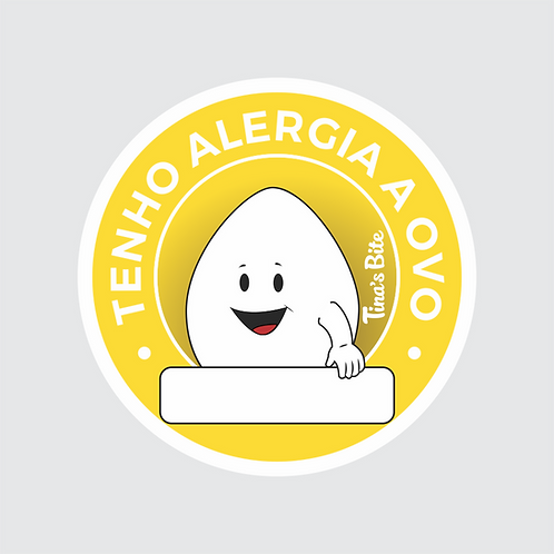 Adesivo Alergia a Ovo - 1 cartela com 20un