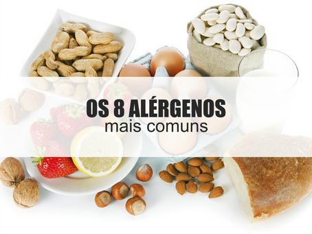 Os 8 alérgenos mais comuns!
