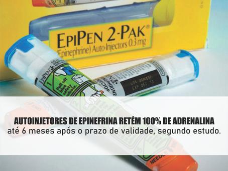 Autoinjetores de epinefrina retém 100% de adrenalina até 6 meses após o prazo de validade, segundo e