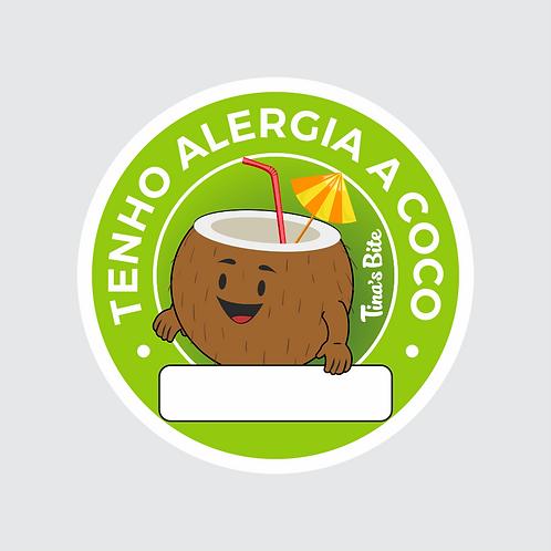 Adesivo Alergia a Coco - 1 cartela com 20un
