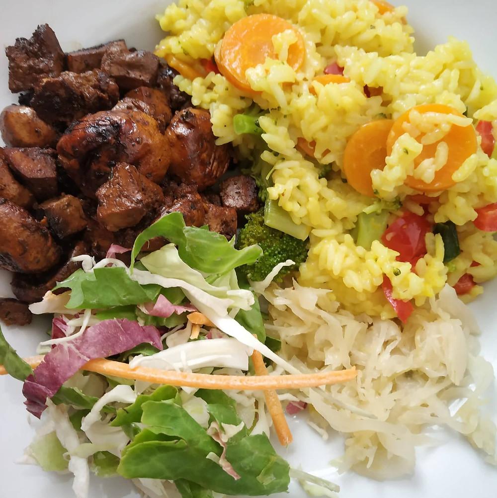 Mushroom, vegetable rice