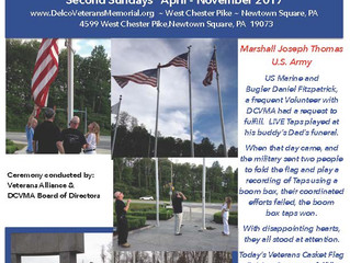 Casket Flag Raising Ceremony - Sunday August 13th 5:00 PM