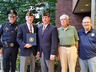 Marple Township presents 2017 Freedom Medal Honoree Jerry Sweeley, US Army Veteran with a Proclamati