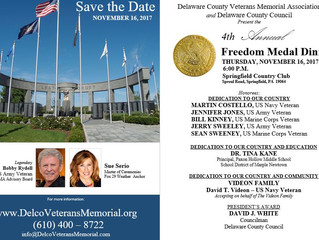 4th Annual Freedom Medal Honoree Dinner 11.16.17