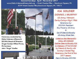 Casket Flag Raising Ceremony - Sunday November 12th 5:00 PM