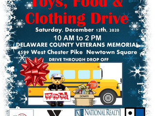 Holiday Toys, Food & Clothing Drive 12/12/20