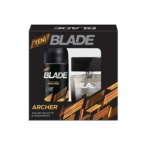Blade Archer Erkek Parfüm Seti Edt 100ml +150ml Deodorant Men Kofre Set