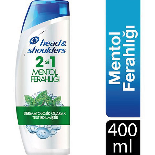Head & Shoulders Şampuan 400 ml 2 si 1 Mentol Ferahlığı
