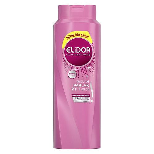 Elidor 2Si 1 Arada Güçlü Ve Parlak Şampuan 650 Ml