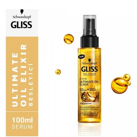 Gliss Saç Bakım Serumu Ultimate Oil Elixir Nemlendirici 100ml Saç Bakım Yağı