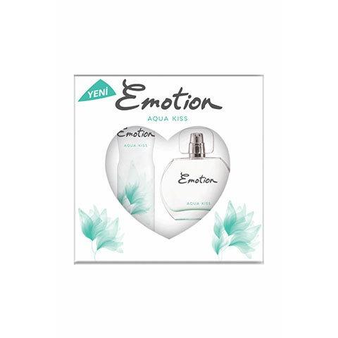 Emotion Aqua Kiss Bayan Parfüm Seti Edt 50ml + 150ml Deodorant Kadın Kofre Set