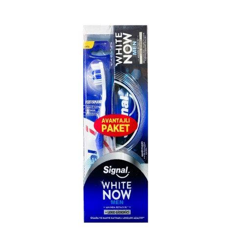 Signal White Now Men Diş Macunu 75ml + Performans Fırça Hediyeli Macun Fırça Hed