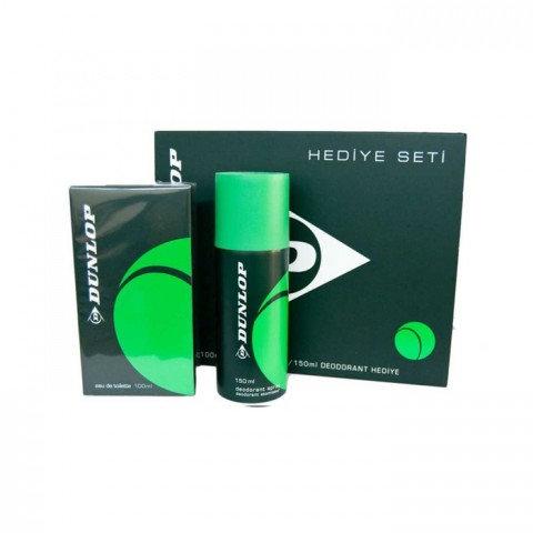 Dunlop Parfüm Seti Edt 100ml + Deodorant 150ml Erkek Kofre Set Klasik Yeşil