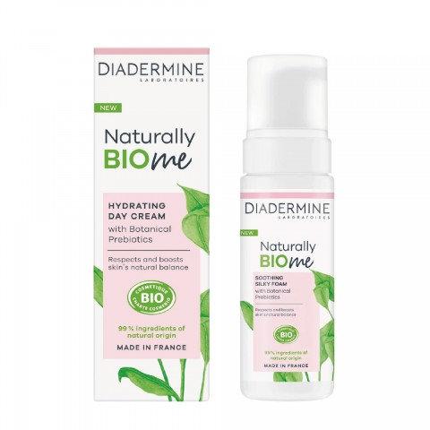Diadermine Naturally Bio Me Nemlendirici Gündüz Kremi 50 ml + Yüz Köpüğü Hediye