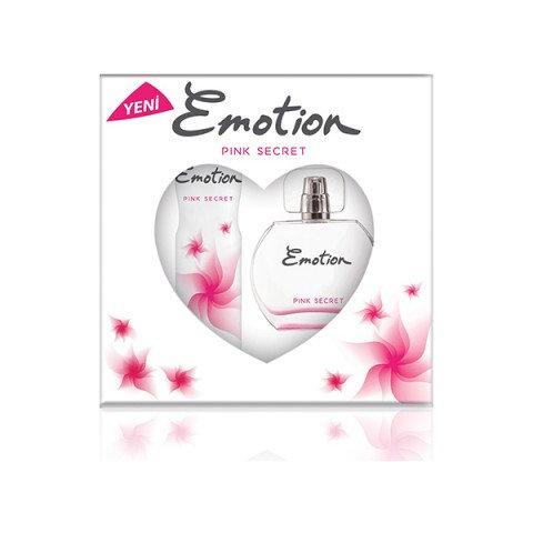 Emotion Pink Secret Bayan Parfüm Seti Edt 50ml + 150ml Deodorant Kadın Kofre Set