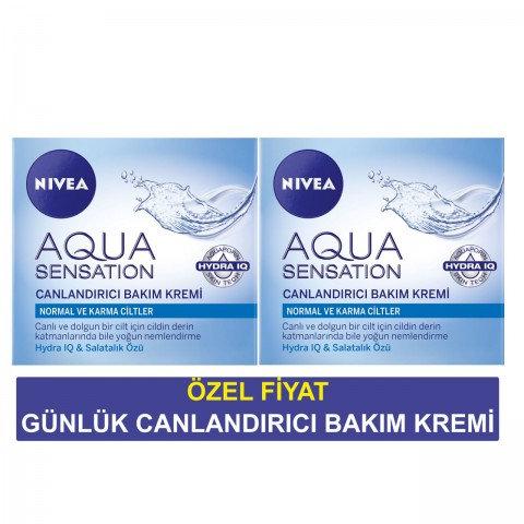 Nivea Aqua Sensation Canlandırıcı Bakım Kremi 50 ml + 50 ml Özel Fırsat
