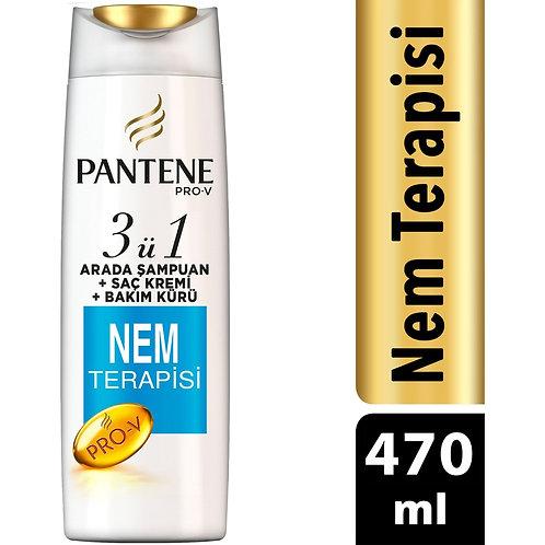 Pantene Şampuan ve Saç Bakım Kremi Nem Terapisi 470 ml 3'ü 1 Arada