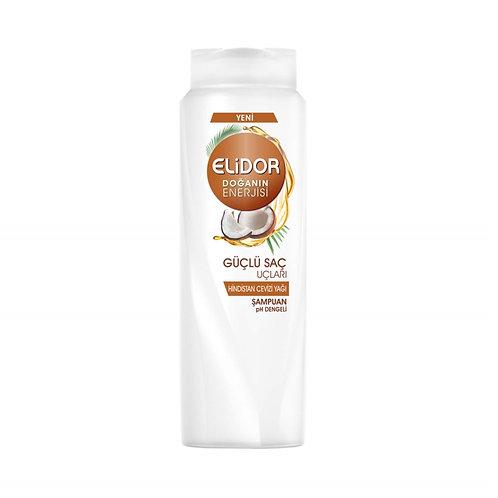 Elidor Şampuan 650 Ml Güçlü Saç Uçları Hindistan Cevizi Yağı