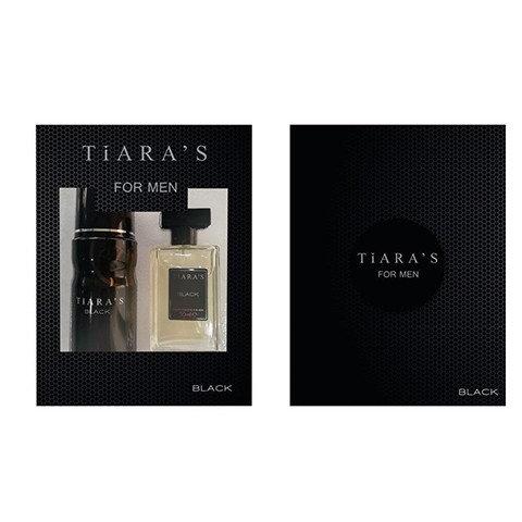 Tıaras Black Erkek Set Parfüm 50ml Edt+150ml Deodorant
