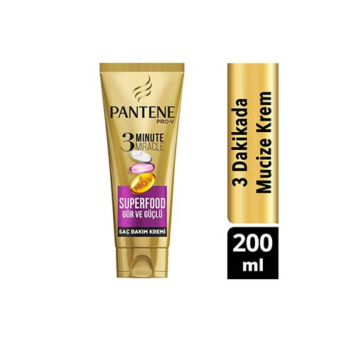 Pantene Tüp Saç Bakım Kremi 3 Minute Miracle Superfood 200ml