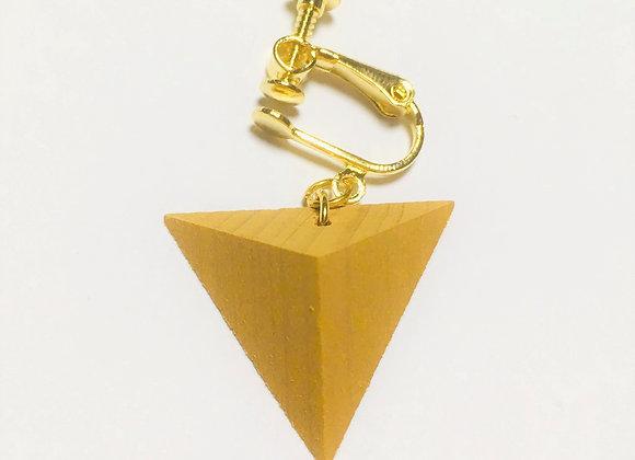 Small Tsumiki Earring【Clip/Yellow】