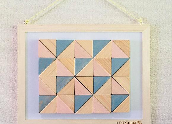 Design Tsumiki【Slate-gray & Pastel-pink】の複製