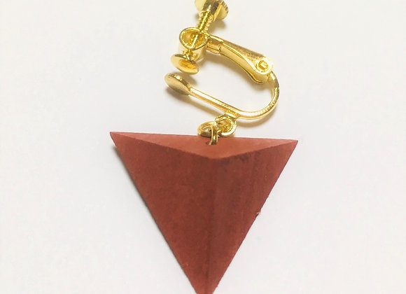 Small Tsumiki Earring【Clip/Rose-red】