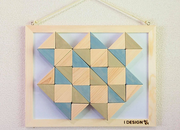 Design Tsumiki【Slate-gray & Dark-beige】