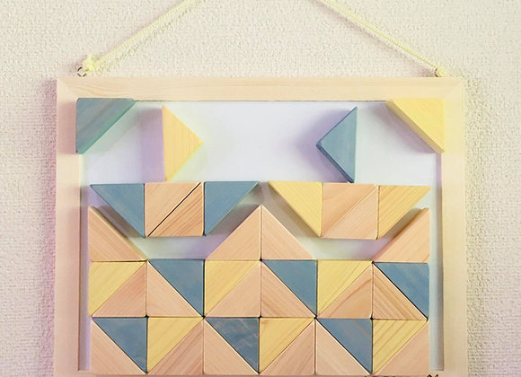 Design Tsumiki【Slate-gray & Lemon-yellow】