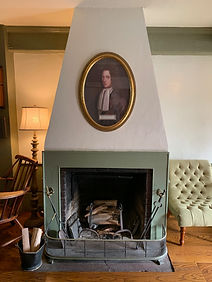 Guest Reception Area Fireplace
