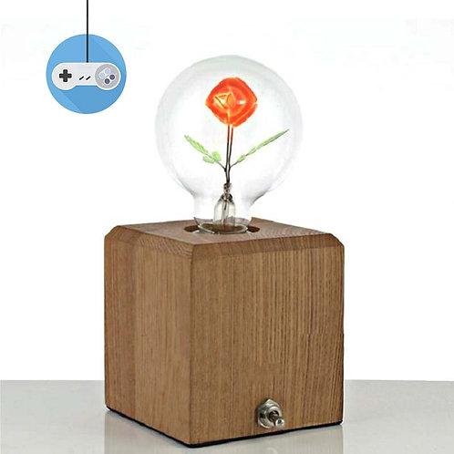 Декоративна едисонова крушка с роза