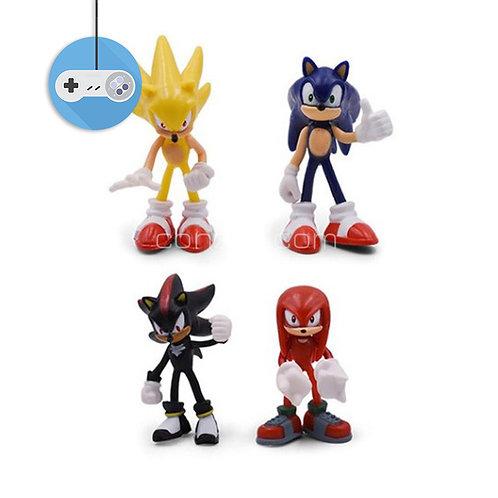 Сет от 4 различни герои Sonic the Hedgehog