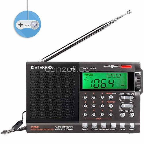 Портативно цифрово Retekess TR608 FM/MW/SW радио с 24-часов таймер и часовник