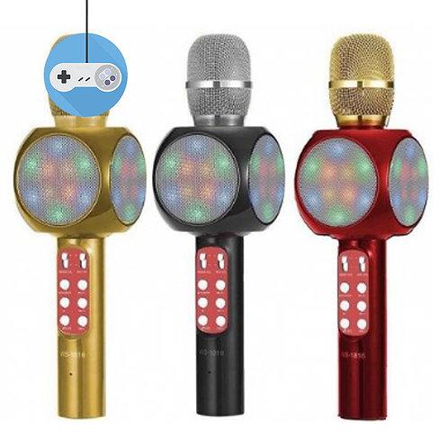 Безжичен караоке микрофон с вградени колонки и ФМ Радио