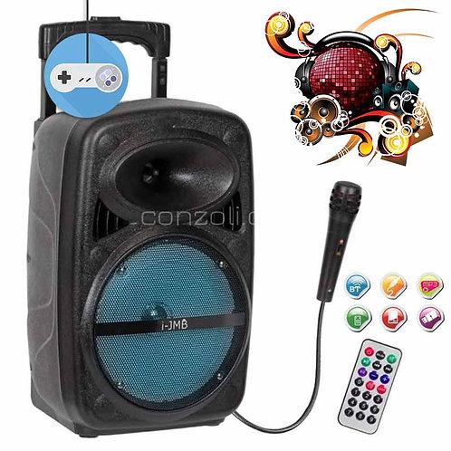 Мобилна тонколона i-JMB с микрофон за караоке
