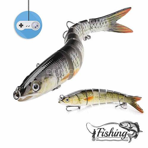 3D воблер за риболов с 8 сегмента