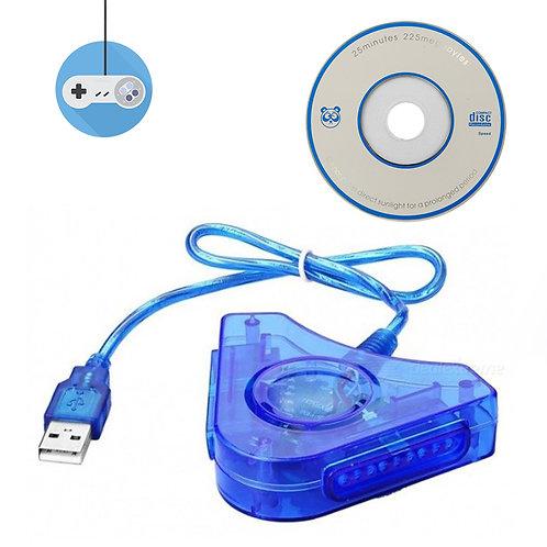 Адаптер от джойстик на PS1 или PS2 към PC