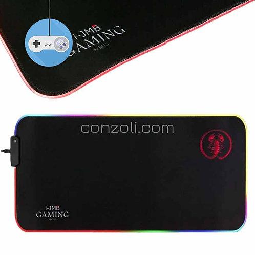 Геймърска подложка за мишка и клавиатура с LED осветление i-JMB