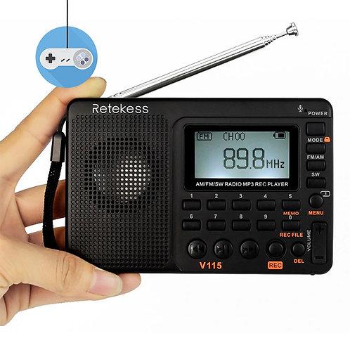 Портативно Retekess FM/AM/SW радио с MP3 player