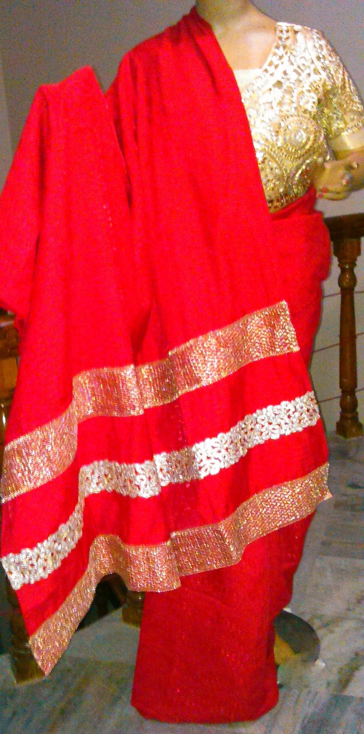 FSN 005 Red color Designer Sarees