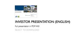 INVESTOR PRESENTATION V4.0