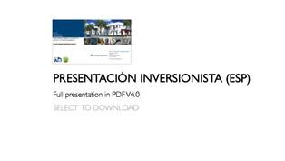 PRESENTACIÓN INVERSIONISTA (ESP)