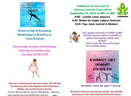 September 2019 Newsletter Dancescape by Joyce