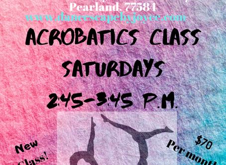 Acrobatics class... New this month!