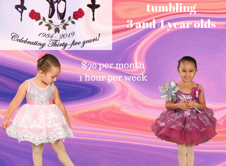 Combination class for 3 and 4 year olds!